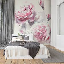 Space with a Floral Wall Mural ...