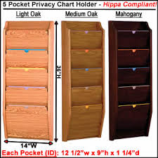 Patient Privacy Chart Holders With 3 Pockets Hippa Compliant