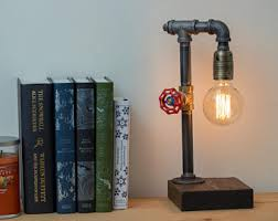 etsy industrial lighting. Industrial Lamp/Edison Lamp/Pipe Lamp/Steampunk Pipe Lamp/Rustic Decor/ Etsy Lighting