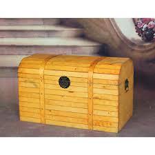 vintiquewise antique wood trunk