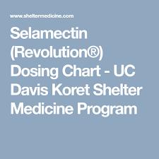 Selamectin Revolution Dosing Chart Uc Davis Koret