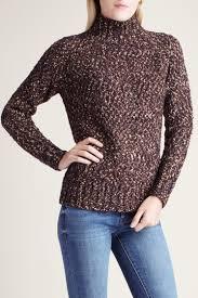 Kensie Clothing Size Chart Kensie Black Combo Twisted Slub Boucle Long Sleeve Mock Neck Sweater