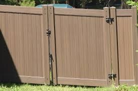 brown vinyl fence. Chestnut Brown Woodgrain Fence. Vinyl Fence