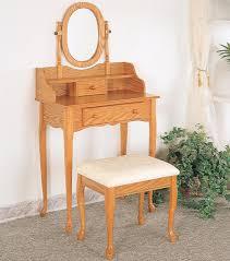 Oak Bedroom Chair Oak Vanity Aandj Homes Studio Marane Oak Vanity Set With Mirror