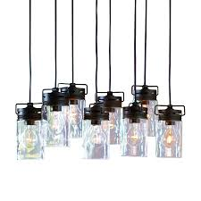 allen roth vallymede 25 47 in aged bronze barn multi light clear glass jar
