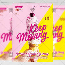 Moving Flyer Template Keep Moving Club A5 Flyer Template