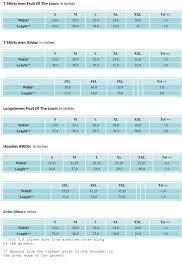 Gildan Hammer Size Chart 36 Meticulous Gildan Preshrunk Size Chart
