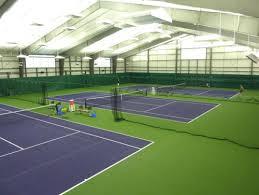 indoor tennis court lighting. lsi illuminates indoor tennis facility with indirect led lighting court