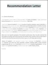 High School Recommendation Letter For Student Nursing Letters Of Recommendation Blogue Me