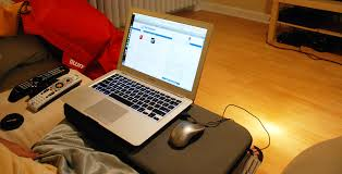 wide lapdesk with macbook air