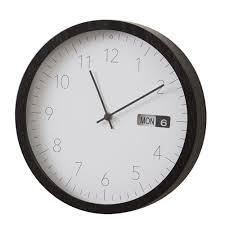 Wesley Black Rim Wall Clock - Gifts Australia