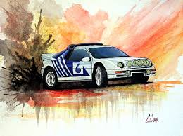 paintings by erin carr fine art composition created in gouache ford rs200 evolution watercolor artist com