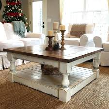 distressed coffee table set off white distressed coffee table antique white harvest coffee table by on