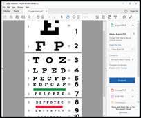 Snellen Test Card For Improving Vision
