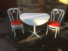 ice cream parlor style table and chair set attainable vintage