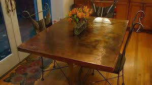 diy concrete dining table top and set makeover the crazy gallery including copper kitchen images imagine