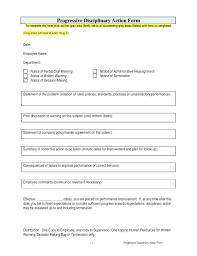 Disciplinary Forms For Employees Free Restaurant Write Up Form Resume Index Of 5 Work How To Experience
