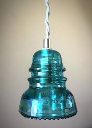 insulator pendant light s glass insulator diy pendant light kit