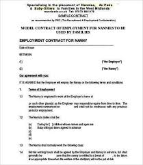 Nanny Contracts New Nanny Contract Template Awesome Employment Agreement Sample New