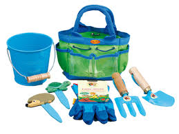 blue junior garden tool set childrens gift
