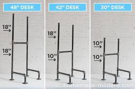 hhomemade modern diy ep74 standing desk chart