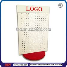 Table Top Product Display Stands TSDW100 Free Standing Rotating Pegboard Display Stand For 30