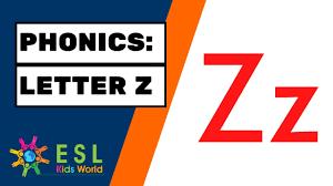 Preschool and kindergarten phonics worksheets for teachers and homeschool. Phonics The Letter Z Letter Zz Sounds Esl Kids World Youtube