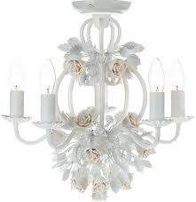 dar saskia 5 light chandelier white country style