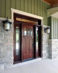 craftsman front doorstone around front door entry craftsman with wood door craftsman