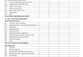 Commercial Construction Budget Template Editable Project Management Budget Template Commercial