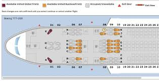 United Plane Seating Chart Dont Forget To Choose Your Seats