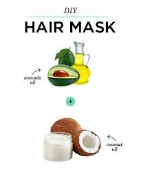 diy hair mask coconut oil avocado