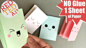 how to make girly things out of paper easy mini notebook from one sheet of paper no glue mini paper