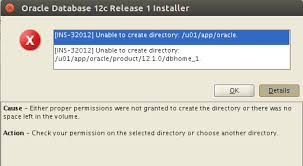 Create A Directory Oracle 12c In Ubuntu 14 04 How Resolve Ins 32012 Unable
