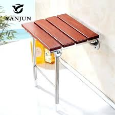 wood folding bath shower seat wall mounted relaxation chair solid spa bench saving india