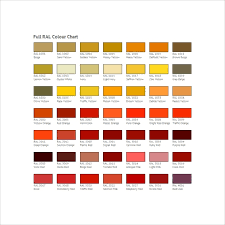 Ral To Pantone Conversion Chart Free 8 Sample Ral Color Chart Templates In Pdf