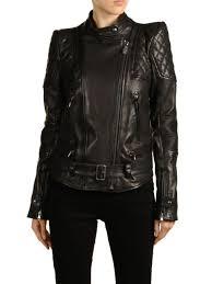 sel black gold women s luke leather jacket black
