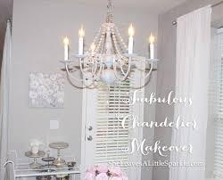 fabulous vintage chandelier makeover diy chalk paint chandelier dear lillie restoration hardware pottery barn chandelier