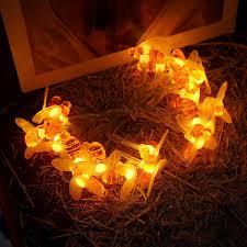 Decorative String Lights Amazon Amazon Com Wddh Bee Shape Fairy String Lights 10 20 Led