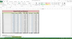 Profit And Loss Statement Simple Stunning Profit Loss Statement Excel Spreadsheet Template Microsoft Etsy