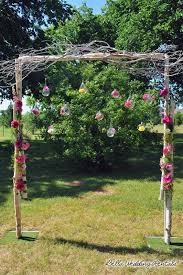 birch twig garden arch