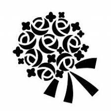ブーケシルエット イラストの無料ダウンロードサイトシルエットac