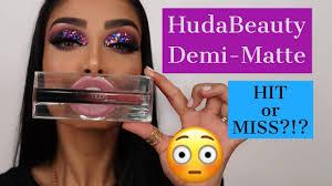 NEW <b>HUDA BEAUTY</b> DEMI MATTE cream lipstick review and ...