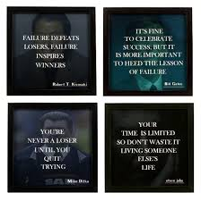 Indianara Motivational Quotes Square Synthetic Wood Art Painting 23 Cm X 23 Cm X 6 Cm Set Of 4