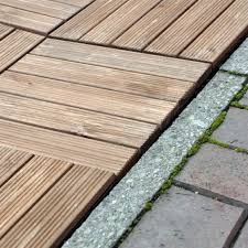 Small Picture 30CM SQ WOODEN DECKING TILES DECK EASY CLICK SLABS GARDEN OUTDOOR