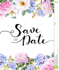 Save The Date Invitation Template Stock Illustration Illustration
