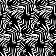 Vector Naadloos Patroon Met Bladeren Geïnspireerd Door Tropische
