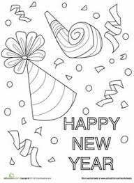 Small Picture Coloring Pages for Adults Teens New Year 2016 Year 2016