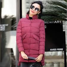 new warm winter jackets women stand collar cotton parkas casual winter coat women single ted slim