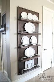industrial pipe plate rack diy